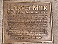 Bronze plate of Harvey Milk ashes on Castro Street.JPG
