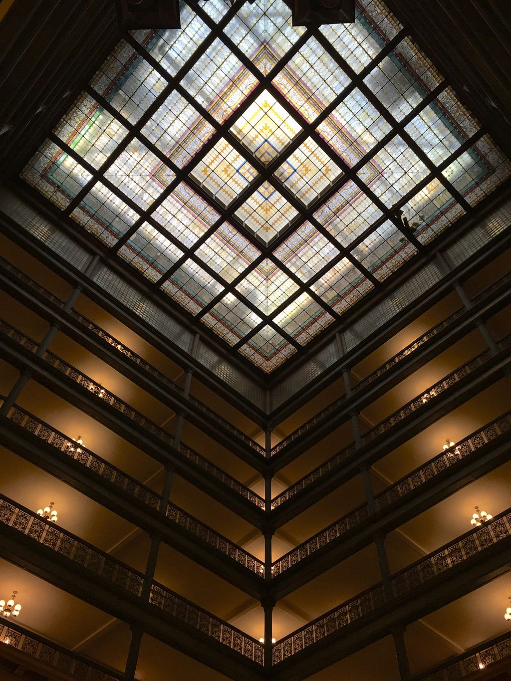 Brown Palace Hotel Atrium Stained Glass Ceiling