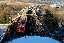 Trogbrücke über Inntalautobahn vor Innsbruck