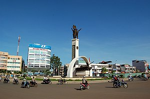 Buôn Ma Thuột city square in June 2006