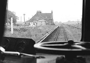 Formartine and Buchan Railway - View from the cab heading north approaching Logierieve