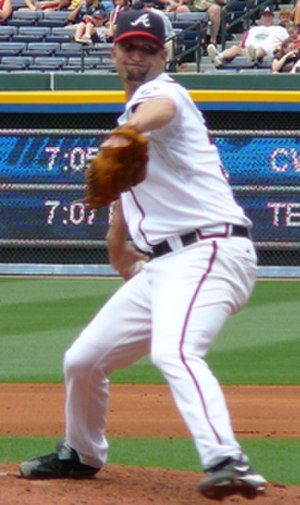 Buddy Carlyle - Carlyle pitching for the Atlanta Braves in 2007