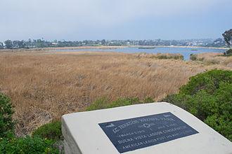 Buena Vista Lagoon - A marker at Buena Vista Lagoon
