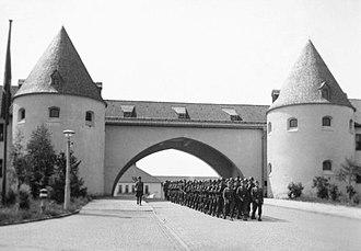 SS-Junkerschule Bad Tölz - Main gates of the school, 1942
