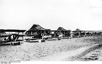 Jagdstaffel 26 - The Jasta 26 flightline on 21 March 1918, the first day of the German Spring Offensive.