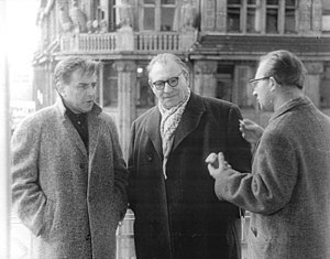 Karl Paryla - Left to right: Karl Paryla, Wolfgang Heinz, ADN interviewer