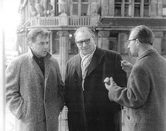 Karl Paryla - Left to right: Karl Paryla, Wolfgang Heinz, ADN interviewer