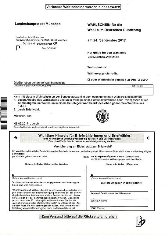 File Bundestagswahl Wahlschein Wahlkreis 220 Jpg Wikimedia Commons