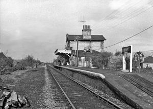 Bures, England - Bures is served by a railway station on the Gainsborough Line, seen here in 1966.