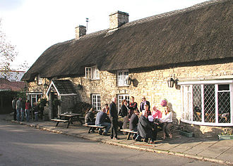 The Hounds of Baskerville - The Bush Inn in St Hilary, Vale of Glamorgan, doubled as the Cross Keys pub in Dartmoor.