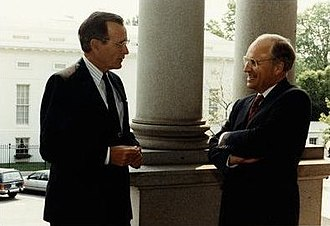 Dick Cheney - Secretary Cheney with President Bush, 1991