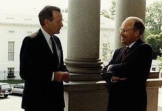 Dick Cheney - Secretary Cheney with President Bush, 1991