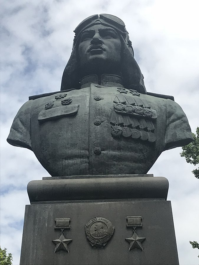 Bust of Nelson Stepanyan in Yerevan