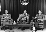 Buzz Aldrin, Neil Armstrong, and Michael Collins during the last pre-flight press conference.jpg