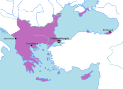 The Byzantine Empire on the eve of the Crusades, ca. 1080