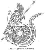 Rappresentazione di Cecrope, re di Atene