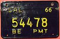 CALIFORNIA 1966 -BOARD OF EQUALIZATION SUPPLEMENTAL PLATE -USED ON INTERSTATE TRUCKS - Flickr - woody1778a.jpg