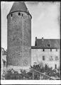 CH-NB - Bulle, Château, tour principale, vue partielle extérieure - Collection Max van Berchem - EAD-6905.tif