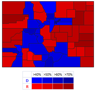 Michael Bennet - County results of the race