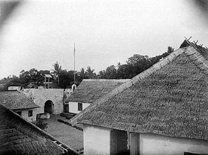 Sula Islands - The Dutch era Fort De Verwachting in Sanana town as it looked in 1921