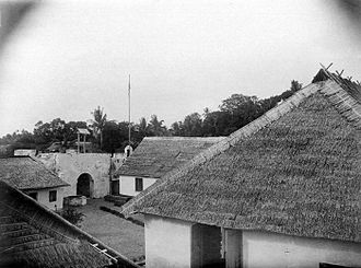 Sula Islands - The Dutch era Fort De Verwachting in Sanana town as it looked in 1921