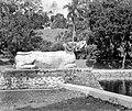COLLECTIE TROPENMUSEUM Stenen waterspuwer in de vorm van een olifant langs de vijver bij het zomerpaleis TMnr 10027824.jpg