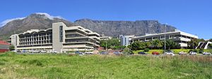 Cape Peninsula University of Technology - The Cape Town Campus, with Table Mountain in the background