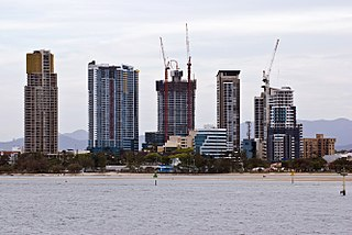 Suburb of Gold Coast, Queensland, Australia