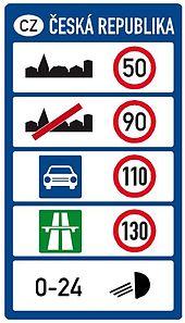 Na značce chybí omezení na dálnici v obci do 80 km h a nákladních  automobilů nad 3500 kg do 80 km h. 5b3d289f85f