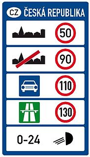 Speed limits in the Czech Republic Overview of speed limits in the Czech Republic