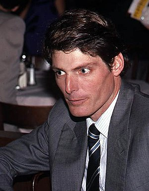 Photo to Christopher Reeve being interviewed a...