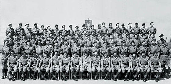 """C"" Squadron, the all-Southern Rhodesian unit of the Special Air Service (SAS), in Malaya in 1953 C Squadron (Rhodesian) SAS, 1953.jpg"