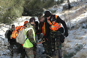 Colorado Wing Civil Air Patrol - Cadets from the Colorado Springs Cadet Squadron at Peterson AFB participate in winter training.