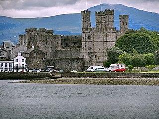 Caernarfon town and port in Gwynedd, Wales