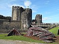 Caerphilly Castle dragon.jpg