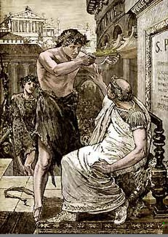 Lupercalia - Caesar Refuses the Diadem (1894), when it was offered by Mark Antony during the Lupercalia
