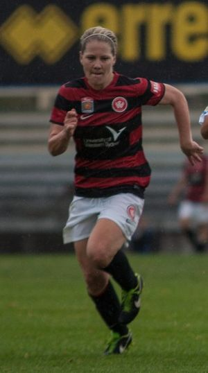 Caitlin Cooper - Cooper debuts for the Western Sydney Wanderers in 2013