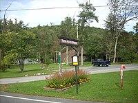 Caledonia State Park Totem Pole Sign.JPG