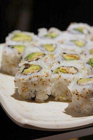 California roll sushi, September 2008.