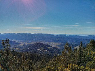 Napa County, California - Image: Calistoga from mt st helena