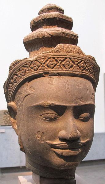 File:Cambogia, harihara, prov. sconosciuta, stile di bakheng, 890-910 ca. 02.JPG