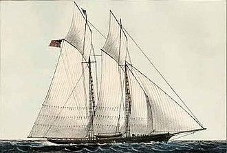 Cambria (yacht) - Schooner yacht Cambria