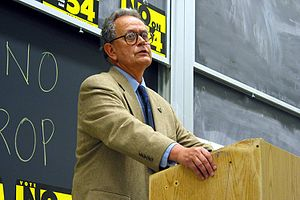 Peter Camejo - Camejo at UC Berkeley giving a lecture during the 2003 Gubernatorial Recall Election in California