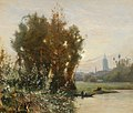 Camille Flers - River Landscape with a City in the Background.jpg