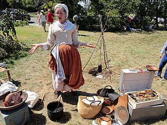18th century camp follower reenactment Camp follower G-W 2016 jeh.jpg