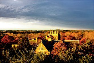 Bowdoin College - View of the campus from Coles Tower