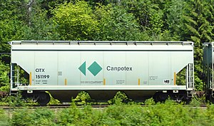 Canpotex - The majority of Canpotex potash is shipped to west coast terminals via CPR lines, in dedicated covered hopper railway cars