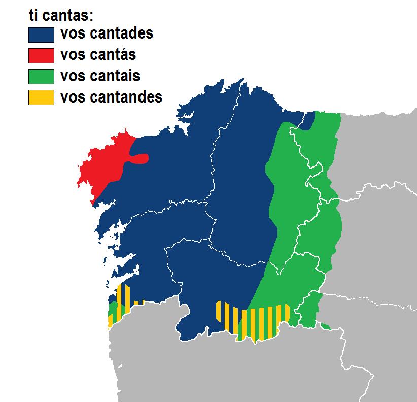 Cantades-cantás-cantais-cantandes idioma gallego