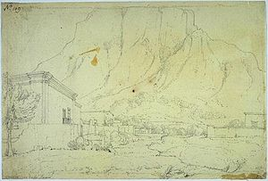 William Westall - Cape of Good Hope, View at the Foot of Table Mountain, 1801