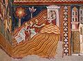 Cappella di san silvestro, affreschi del 1246, storie di costantino 03 invio dei messi a papa silvestro sul soratte 4.jpg
